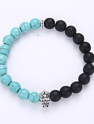 cheap -Men's Women's Strand Bracelet Yoga Bracelet Birthstones Synthetic Gemstones Turquoise Alloy Jewelry For Party Birthday Congratulations