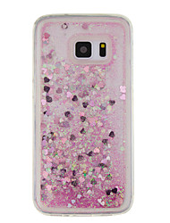 cheap -For Samsung Galaxy  S7 edge S7 S6 edge S6  S5 Case Little Love Quicksand Small Fresh Sand TPU Material Phone Case