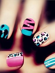 24 peças de moda nail art produtos de impressão remendo unhas falsas