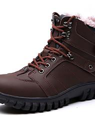 Недорогие -Муж. обувь Наппа Leather Весна / Осень / Зима Удобная обувь / В ковбойском стиле / Зимние сапоги Ботинки Для пешеходного туризма Черный /