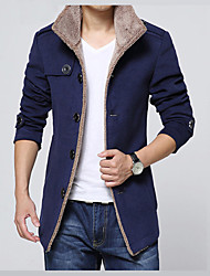 cheap -Men's Daily Vacation Office & Career Religious Celebrations Classic & Timeless Elegant & Luxurious Winter Regular Jacket,Solid Solid Color
