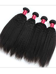 Недорогие -Натуральные волосы Пряди натуральных волос Реми Прямой / Естественные прямые / Яки Бразильские волосы 300 g 1 год