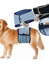 Недорогие -Собака Брюки Смешанная хлопковая ткань Подгузники Одежда для собак Хорошая вентиляция На каждый день Однотонный Черный Синий Костюм Для