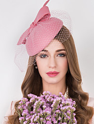 cheap -Wool Tulle Net Fascinators Hats Headwear with Floral 1pc Wedding Special Occasion Casual Headpiece