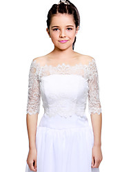 cheap -Lace Wedding Party Evening Kids' Wraps With Lace Shrugs