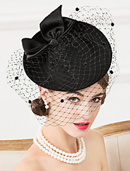 cheap -Wool Fabric Net Fascinators Hats Birdcage Veils Headpiece
