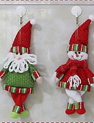 1pc aleatoria venta caliente decoración de Navidad de Santa Claus muñeco de figuritas de navidad