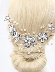 imitação de pérolas de flores de cabeça elegante estilo feminino clássico