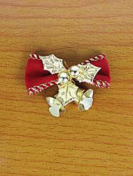 1PC 5CM Red Christmas Bows Iron Bell Decorative Bow Christmas Wreath Christmas Tree Decorations(Style random)