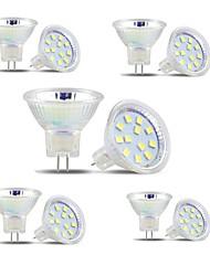 cheap -GU4(MR11) LED Spotlight MR11 12 SMD 2835 300 lm Warm White Cool White DC 12-24 V 10 pcs