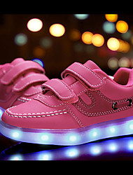 LED Light Up Shoes, Kids Boy Girls Led Shoes Spring / Fall / Winter Leather Outdoor / Light Up Sneakers / Casual Low Heel Luminous Shoes Black / Pink