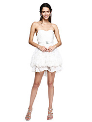A-line schatz kurz / mini chiffon cocktail party heimkehr prom dress mit brosche ruching von ts couture®