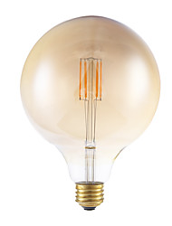 3.5W E26 LED Filament Bulbs G40 4 COB 300 lm Warm White Dimmable AC 110-130 V 1 pcs