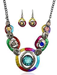 Da donna imitazione dello zaffiro bigiotteria 1 collana 1 paio di orecchini Per Feste Quotidiano Casual Regali di nozze