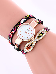 cheap -Women's Quartz Bracelet Watch Hot Sale Leather Band Butterfly Fashion Black Blue Grey