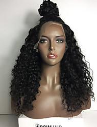 бесклеевой кружева перед парик человеческих волос Afro Kinky фигурная парик 8а бразильский виргинский парики человеческих волос для женщин