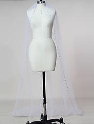 abordables -velos de capilla de velo de novia de una sola capa con accesorios de boda de tul de pedrería