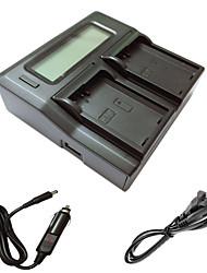 ニコンD3200のd3300のD5100のd5200のD5300 D5500カメラbatterysのための車の充電ケーブルとismartdigi el14 LCDデュアル充電器