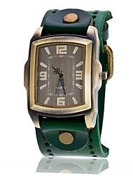 Men's Sport Watch Military Watch Dress Watch Fashion Watch Wrist watch Quartz Punk Leather Band Vintage Bohemian Charm Bangle Cool Casual