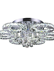 Flush Mount ,  Modern/Contemporary Chrome Feature for Crystal LED Metal Living Room Bedroom Dining Room