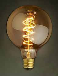 e27 de bulbes 40w soie filament de carbone à incandescence de lumière de g95 autour de la perle