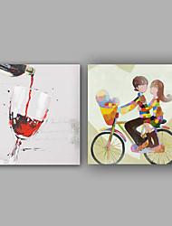 Hånd-malede Tegneserie Kvadrat, Klassisk Moderne Lærred Hang-Painted Oliemaleri Hjem Dekoration Et Panel