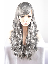 cheap -Synthetic Hair Wigs Natural Wave Capless Carnival Wig Halloween Wig Natural Wigs Long Very Long Gray Synthetic Wig