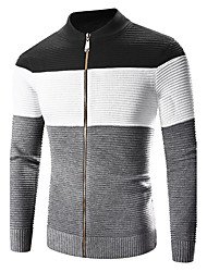 cheap -Men's Sports Weekend Vintage Casual Cotton Jacket-Solid Colored Stand