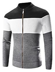 abordables -Veste Homme - Couleur Pleine, Sports Mao Coton
