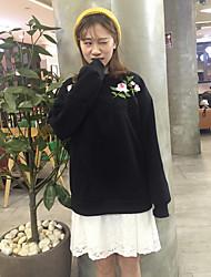 assinar o site oficial dos antigos modelos japoneses retro rosas bordadas em torno do pescoço de mangas compridas camisola de lã de duas