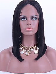 Grade 9A Brazilian Virgin Hair Bob Wig Straight Hair Natural Black Color 100% Unprocessed Virgin Human Hair Full Lace Wig For Black Woman