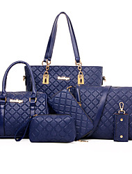 Women Bags All Seasons Special Material Bag Set Rivet for Formal Outdoor Office & Career Gold White Black Coffee Blue