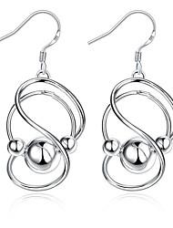 Femme Boucles d'oreille goutte Simple Style Cuivre Plaqué argent Forme Géométrique Infini Bijoux Pour Mariage Soirée Quotidien