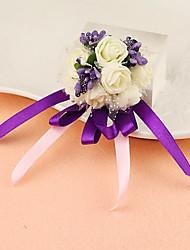 abordables -Fleurs de mariage Petit bouquet de fleurs au poignet Déco de Mariage Unique Occasion spéciale Fête / Soirée Satin 3cm