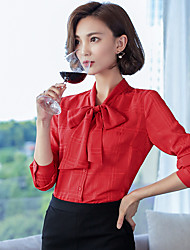 Women's Dailywear Business School Date Active Spring Summer Blouse,Others Shirt Collar Long Sleeve N/A Medium