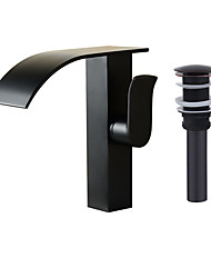 cheap -Waterfall Spout Oil Rubbed Bronze Single Handle Bathroom Sink Vessel Faucet Basin Mixer Tap Tall Body
