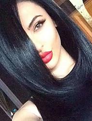 preiswerte -Synthetische Perücken Wellen Stil Kappenlos Perücke Schwarz Natürlich Schwarz Synthetische Haare Damen Afro-amerikanische Perücke Schwarz Perücke Natürliche Perücke