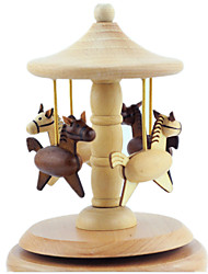 Music Box Toys Dog Carriage Horse Carousel Classic & Timeless Pieces Boys' Girls' Christmas Valentine's Day Birthday Gift