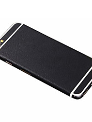 cheap -Full-length Solid Black PU Leather Body Sticker for iPhone 6