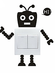 cheap -AYA™ DIY Wall Stickers Wall Decals, Lovely Funny Robot Pattern Light Switch Stickers