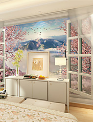 JAMMORY Wallpaper For Home Wall Covering Canvas Adhesive required Mural Flowers Landscape XL XXL XXXL