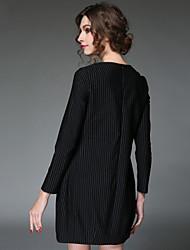 aofuli платья женщин европы 2016 год сбора винограда вышивки лоскутное полоса складку элегантный свободно плюс размер платья