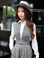 DABUWAWA Women's Going out / Casual/Daily / Formal Vintage / Punk & Gothic / Sophisticated Jackets,Solid Deep V Sleeveless