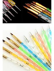 abordables -Nail Art Tool Kit de uñas Cepillo acrílico para uñas arte de uñas Manicura pedicura Pelo Sintético / El plastico / Metal Clásico Diario / Cepillos