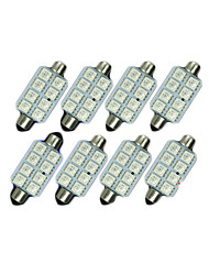 cheap -SO.K 8pcs 41mm Car Light Bulbs SMD 5050 120 lm 8 Interior Lights