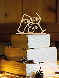 cheap -Cake Topper Non-personalized Monogram Wood Wedding Reception Beautiful