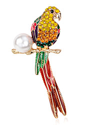 cheap -Women's Brooches Luxury Pearl Parrot Rainbow Jewelry For Party Daily Casual