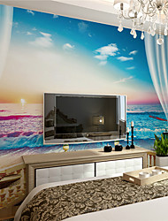 cheap -JAMMORY XL XXL 3X Art Deco Wallpaper Canvas Stereoscopic Large Mural  Gorgeous Sea View Room Contemporary Wall Covering