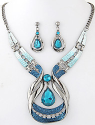 cheap -Women's Jewelry Set - Resin Drop European, Fashion, Elegant Include Drop Earrings / Pendant Necklace Blue For Party / Special Occasion / Anniversary