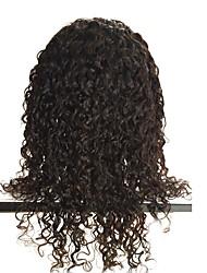 фронта шнурка-бесклеевой бразильские Remy человеческих волос естественные глубокие тела волны парики шнурка с волосами младенца для